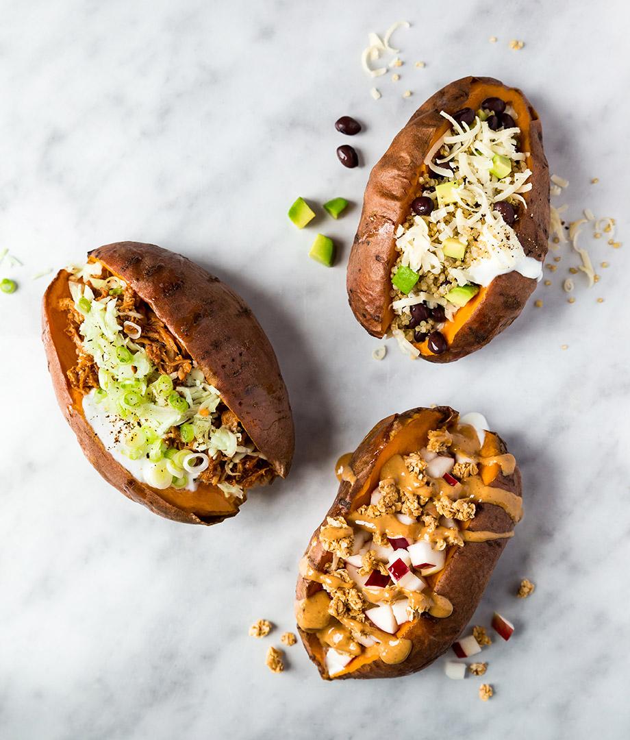 Patates douces farcies au four