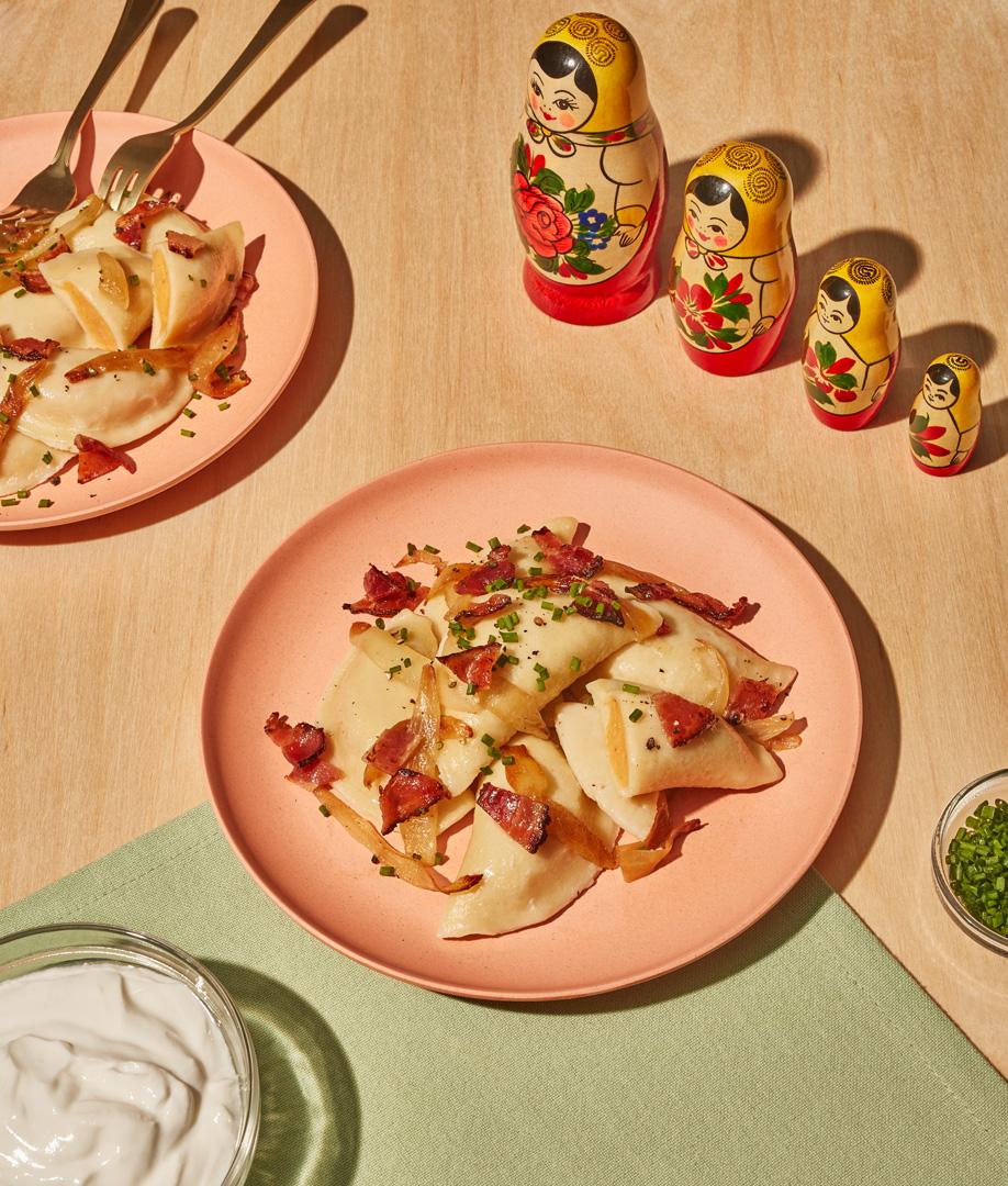 Pierogis ruskie aux pommes de terre et aux fromages d'ici