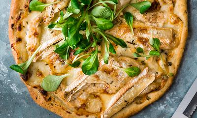 Pizza au poulet barbecue