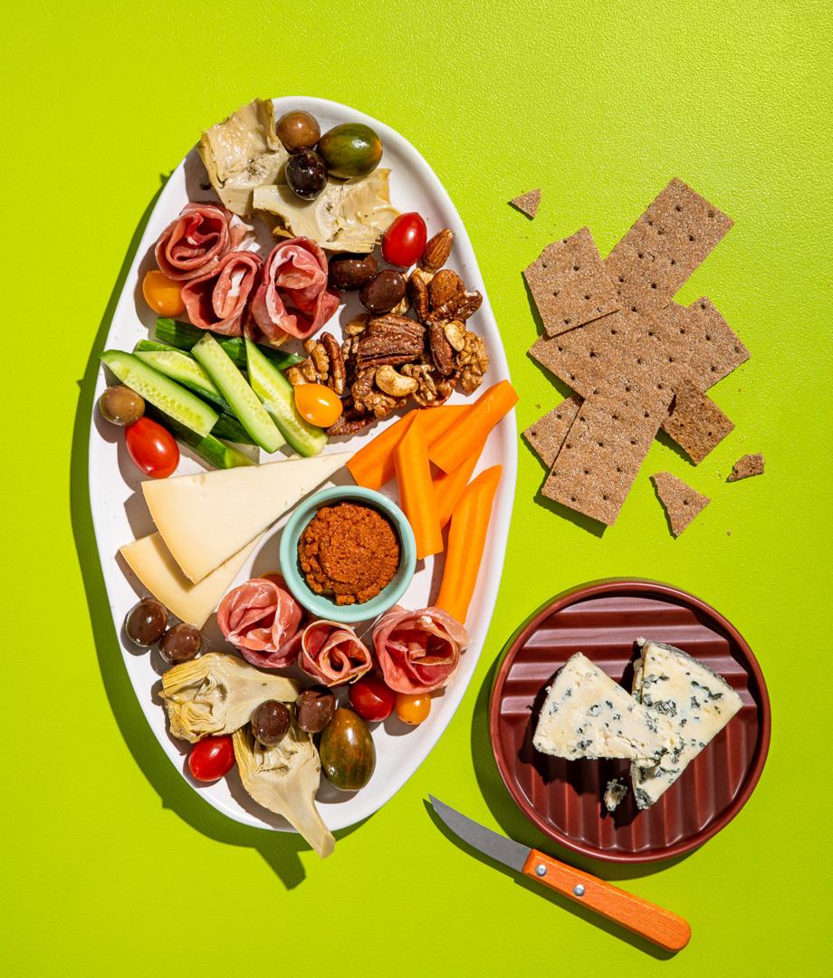 Plateau de fromages d'ici et noix