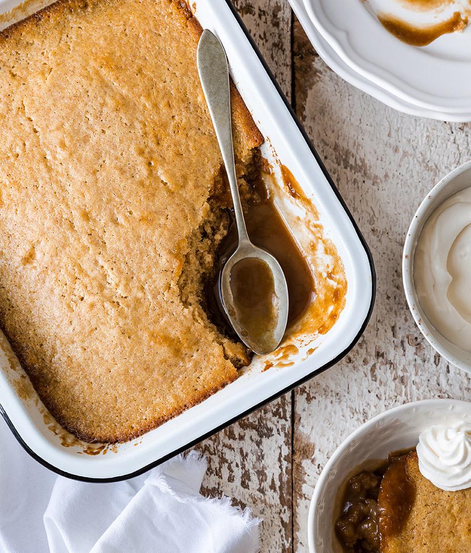 Pouding chômeur à la crème et au café