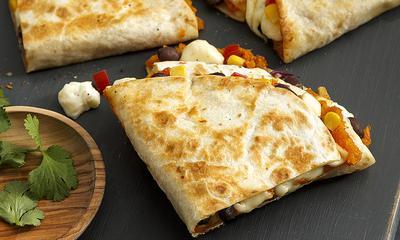Quesadillas aux haricots et patate douce