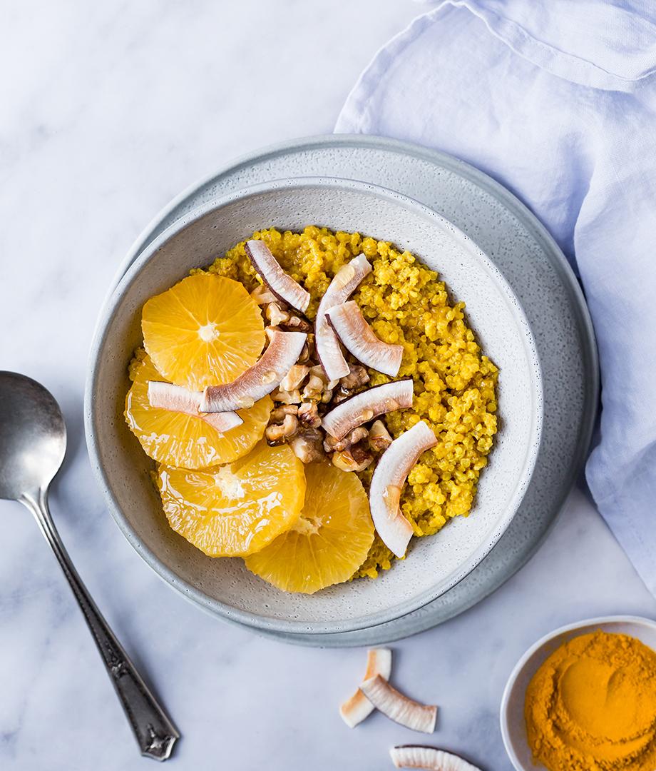 Quinoa déjeuner au lait d'or