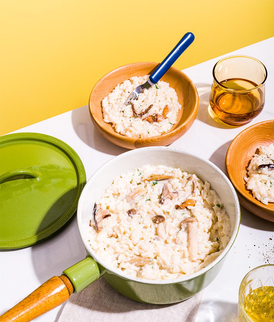 Risotto aux champignons sauvages et au fromage