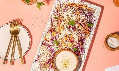 Salade de chou crémeuse au miel