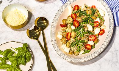 Salade de pommes de terre grelots et fromage en grains