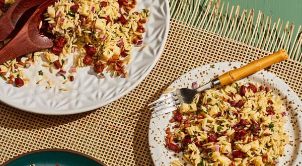 Salade d'orzo, chorizo et Cheddar Île-aux-Grues