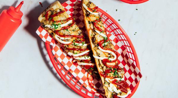 Sandwich Zapiekanka aux champignons