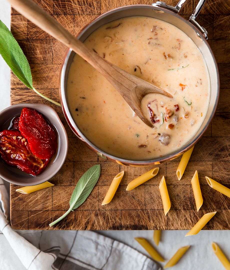 Sauce crémeuse au prosciutto