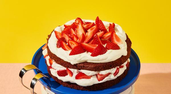 Shortcake chocolaté aux fraises