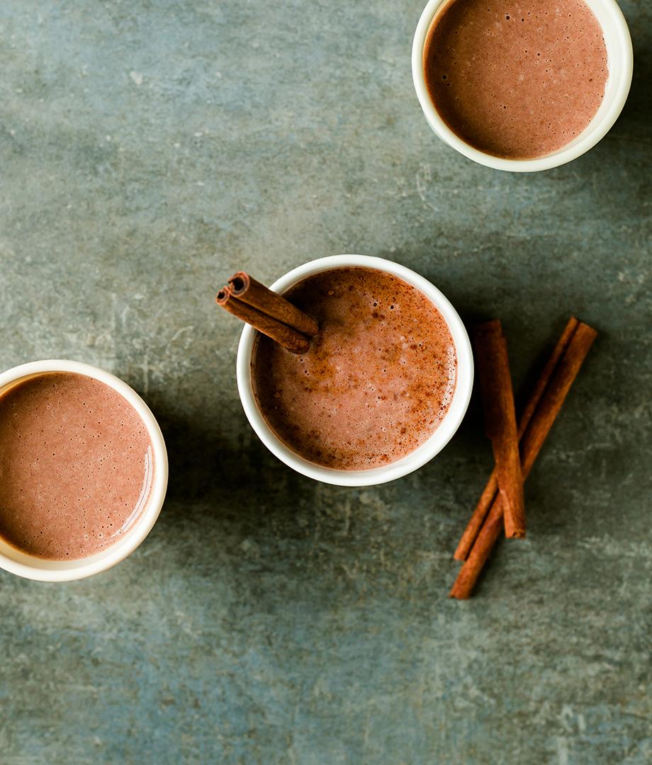 Smoothie chaud au chocolat et beurre de noix