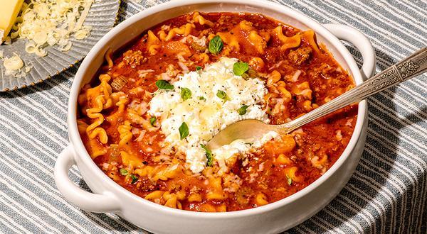 Soupe lasagne