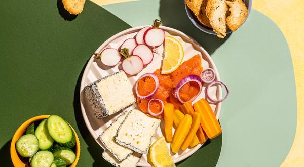 Plateau de fromages d'ici et saumon fumé