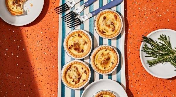 Tartelettes au Baluchon et aux oignons caramélisés