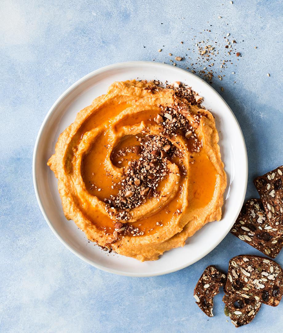 Tartinade dessert à la courge et dukkah aux amandes