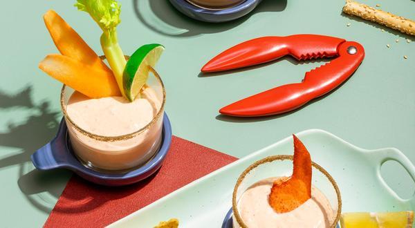Trempette de homard façon Bloody Mary