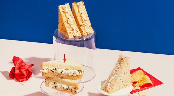 Trio de « sandwichs pas de croûte » réinventés