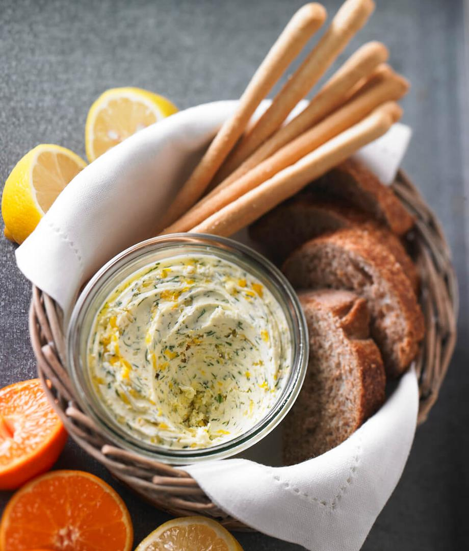 Beurre aux agrumes et à l'aneth