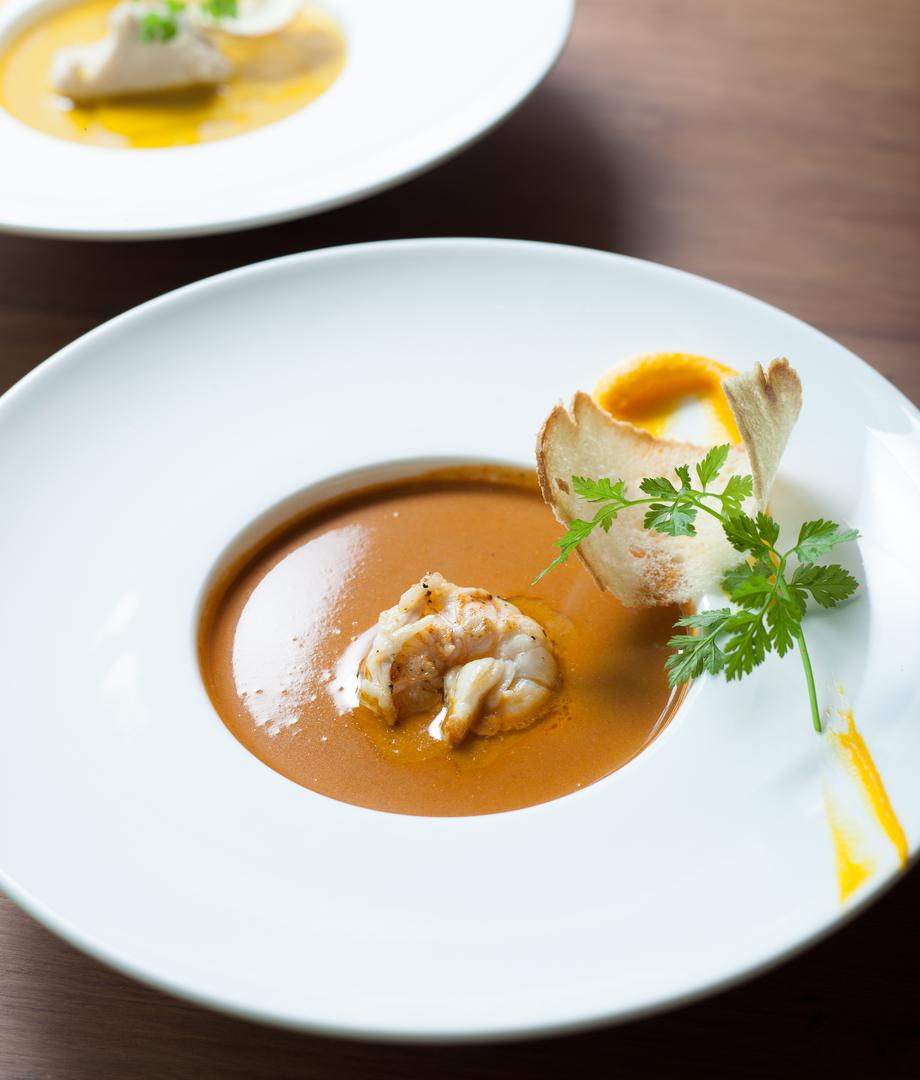 Bisque de homard au cheddar