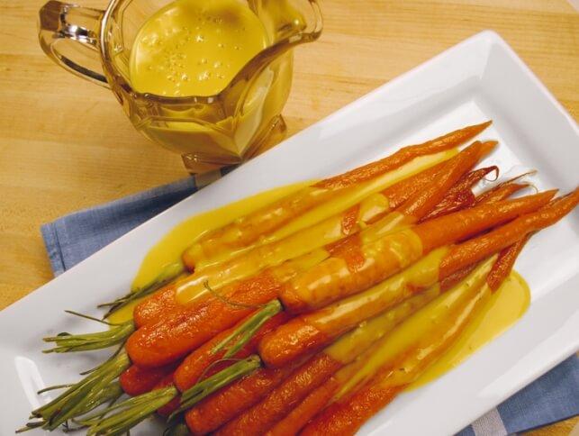 Carottes rôties à la sauce crémeuse épicée