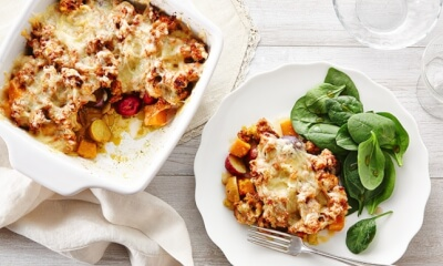 Casserole de courge et saucisse italienne