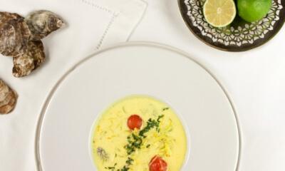 Crème d'huîtres et de poireaux