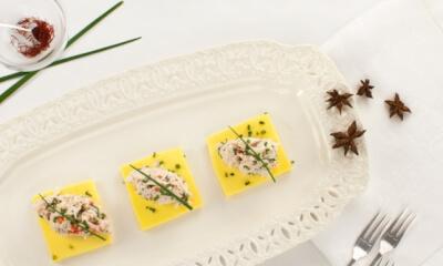 Crabe du golfe et sa gelée de crème safranée