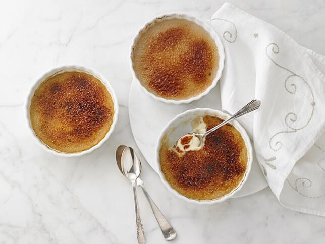 Crème brûlée au rhum vanillé