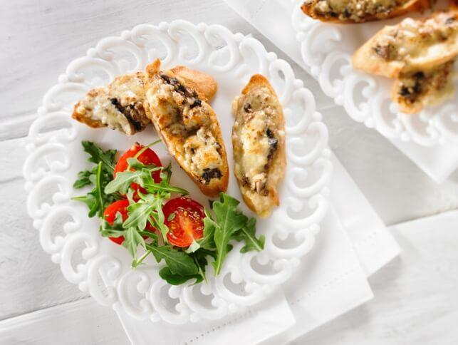 Croustilles aux champignons crémeux