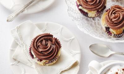 Cupcakes aux bleuets et au chocolat