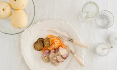 Filet de porc aux poires asiatiques