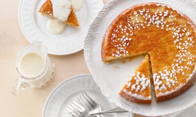 Gâteau aux amandes et crème au citron