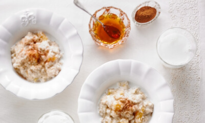 Gruau crémeux au miel et aux abricots