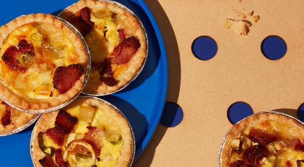 Miniquiches aux pommes et au bacon