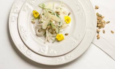Salade blanche panachée et sa vinaigrette crémeuse