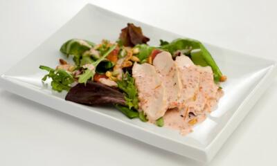 Salade de poulet, orange et gingembre