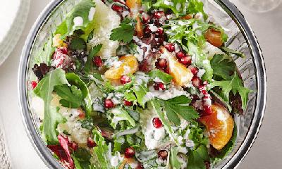 Salade aux agrumes et à la grenade