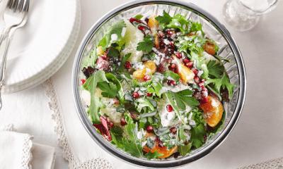 Salade d'hiver aux agrumes et à la grenade