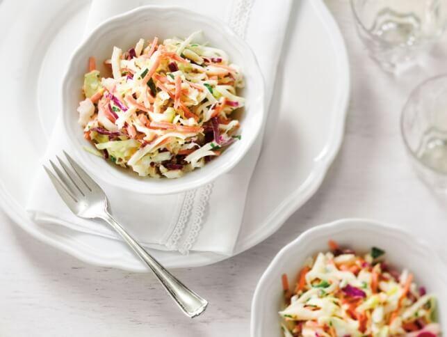 Salade de chou à la vinaigrette crémeuse