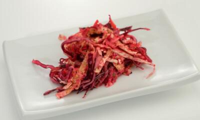 Salade de chou rouge et chou de Savoie