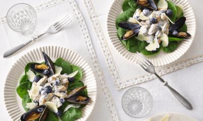 Salade de moules aux bleuets et à la Tomme des Demoiselles