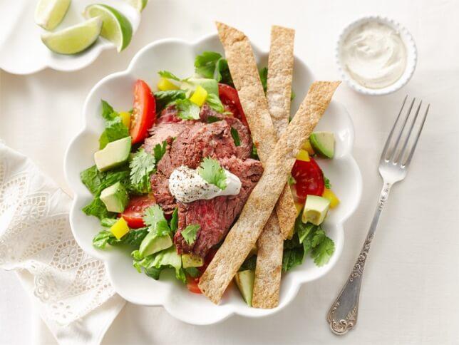 Salade de tacos au bœuf grillé