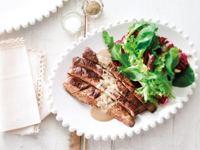 Steak de flanc au calvados