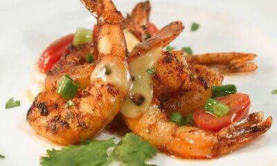 Crevettes grillées au Pied-de-Vent