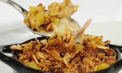 Croustade de pommes de terre rattes au jambon blanc, aux endives et au fromage La Sauvagine