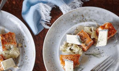 Cubes de saumon, chutney de fenouil et Le Cendré de Notre-Dame