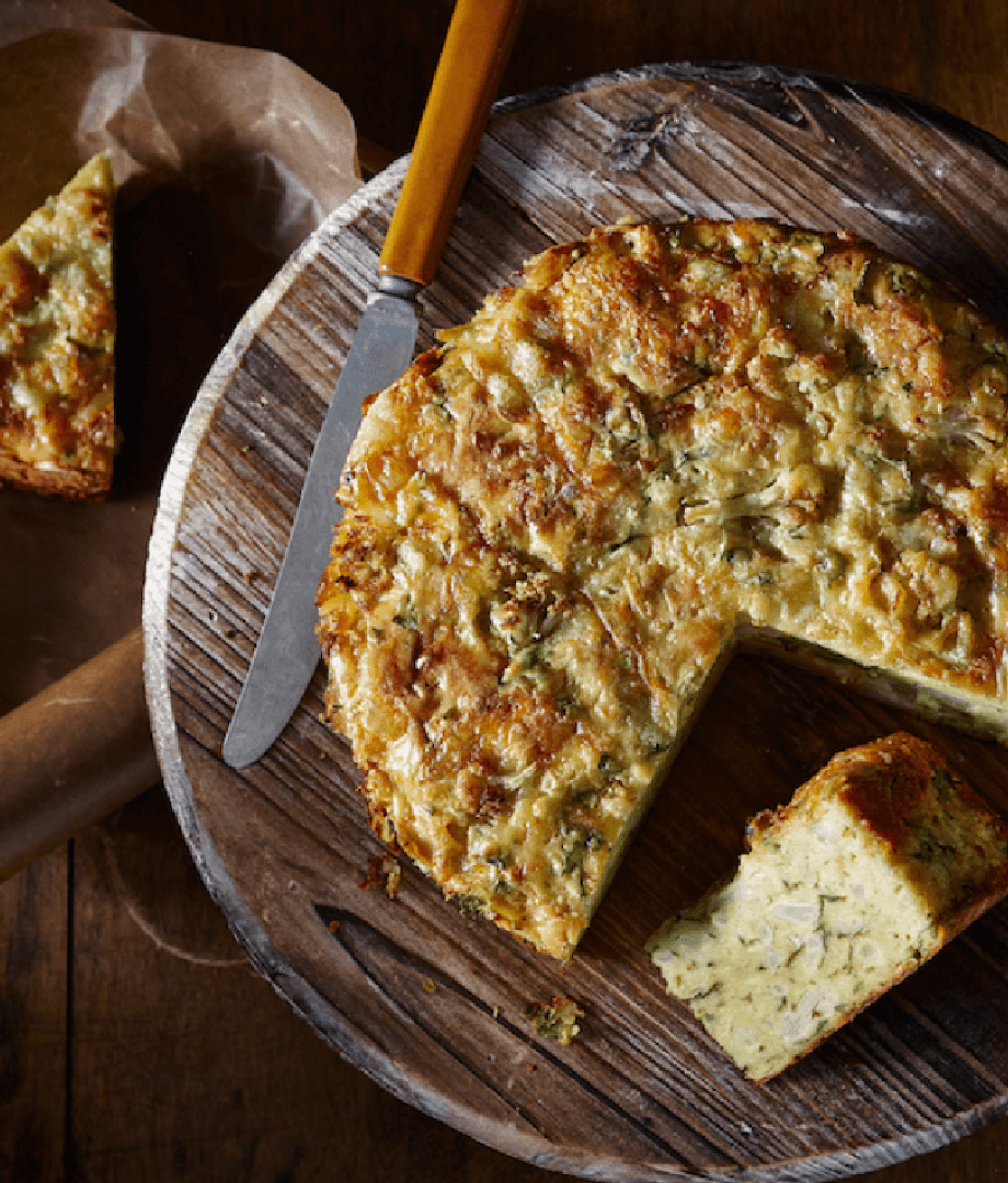 Gâteau de chou-fleur au fromage