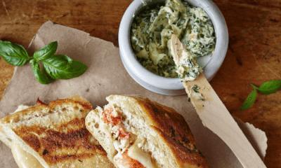 Grilled cheese au homard et Le Saint-Paulin des Basques