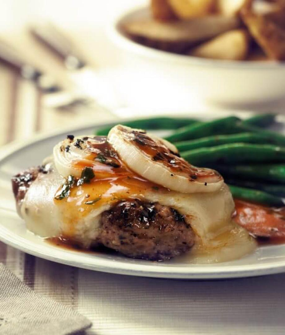 Hamburger steak au fromage