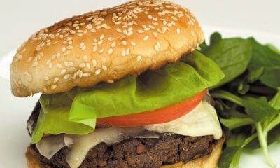 Burger végétarien au Le Délice des Appalaches